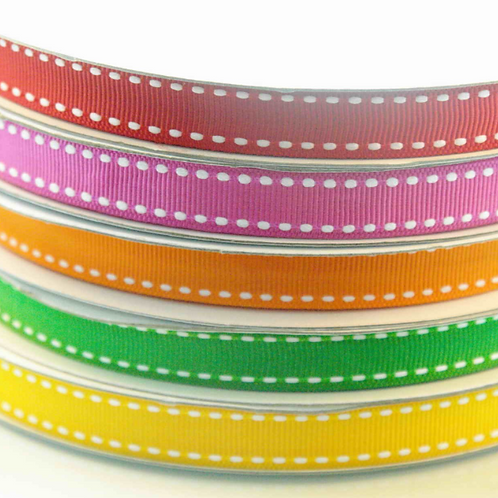 25mm Grosgrain with White Stitch (WRGS25)