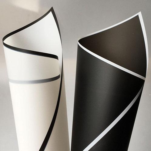 Black/White Border Matte Cello Sheets (MS)