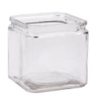 Recycled Vase: Square Rim Cube Pack of 6 (HW1212SQ)