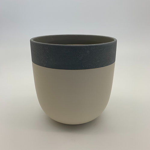 Pastel Yellow Two Toned Pot