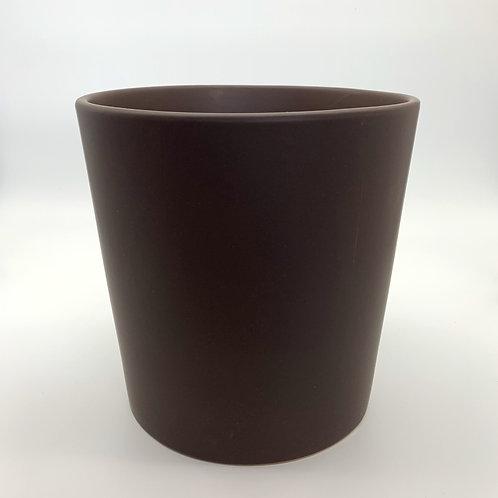 Cone Ceramic Pot Chocolate (HX12)