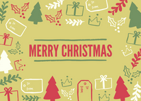 Merry Christmas Card Green