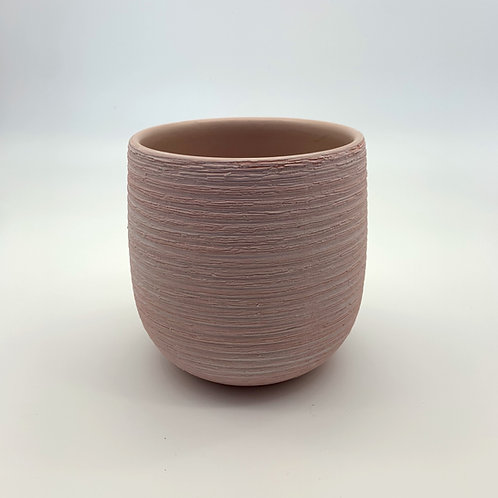 Light Pink White Washed Ceramic Pot