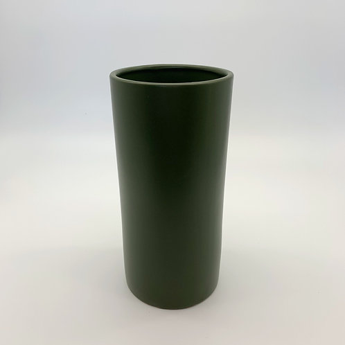 Tall Cylinder Avocado Ceramic Pot (HXS06,HXS07,HXS08,HXS09)