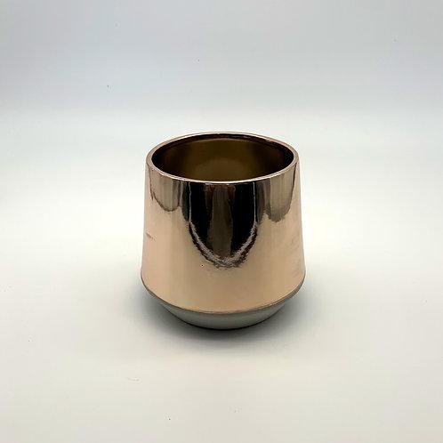 Cement/Rose Gold Pot (HXZ501)