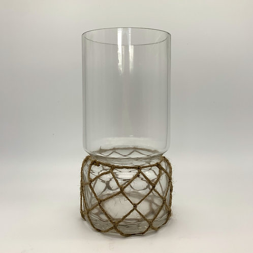 Glass Vase with String Detail (W1087-30)