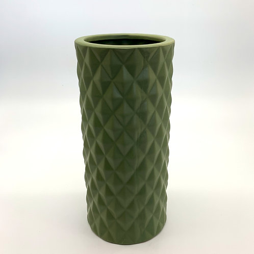 Diamond Ceramic Cylinder Avocado (HXZ007)