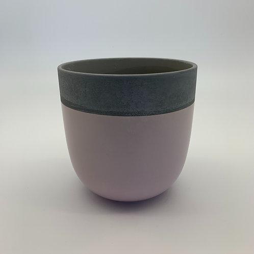 Pastel Two Toned Pot Cement/Lilac (HXZ230L)