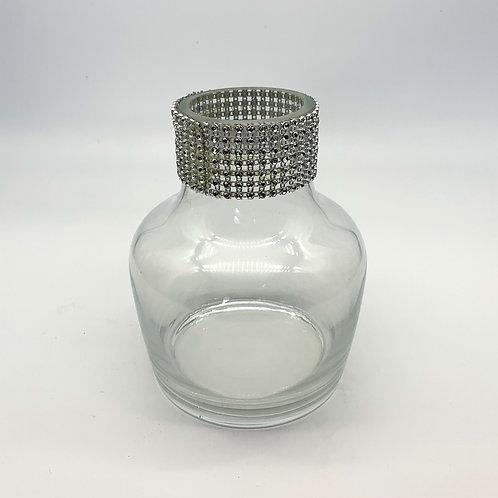 Bottle Crystal Rim Glass Vase (WD15/19)