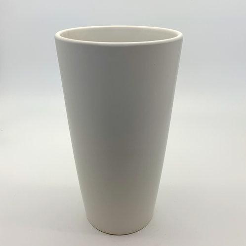 Tall Ceramic Cone Pot White (HXS10,HXS11)