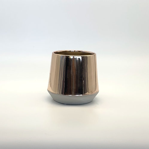 Cement/Gold Pot - Glossy