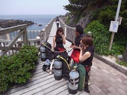 神津島 ダイビング 赤崎