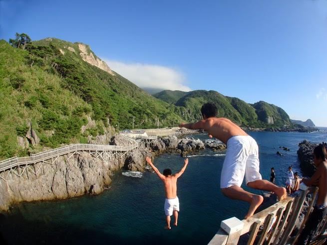 神津島 赤崎 飛び込み