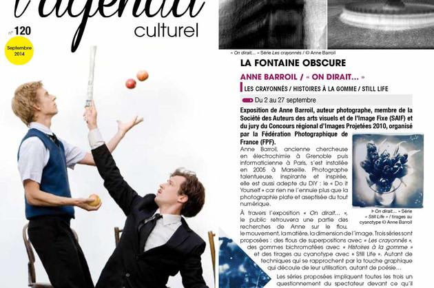 Agenda culturel de la ville d'Aix-en-Provence - septembre 2014