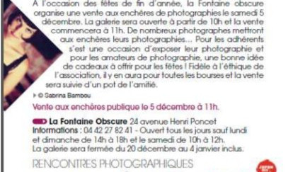 Agenda culturel de la ville d'Aix-en-Provence - Décembre 2015