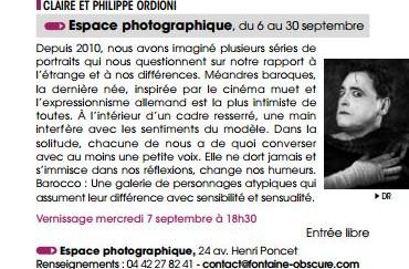 Agenda culturel de la ville d'Aix-en-Provence - septembre 2016