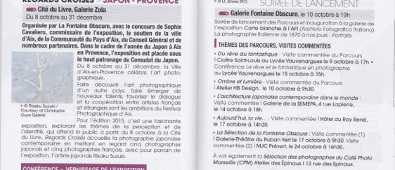 Agenda culturel de la ville d'Aix-en-Provence - Octobre 2015