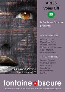 Affiche Arles 2019-Grande Vitrine-Voies