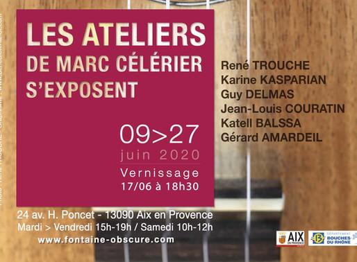 Vernissage 17 juin 18h30  - Les Ateliers de Marc Célérier s'exposent