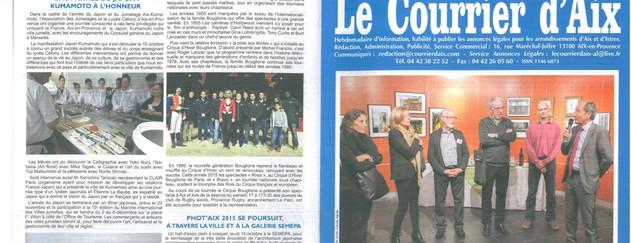 Le courrier d'Aix - octobre 2015