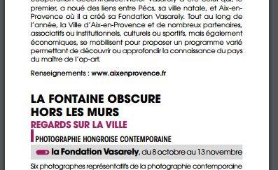 Agenda culturel de la ville d'Aix-en-Provence - Octobre 2016
