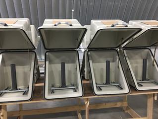 Шкафы утеплённые для оборудования перед отгрузкой