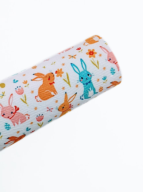 Spring Rabbits Faux Leather Sheets