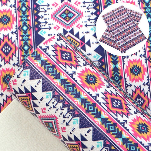 Geometric Tribal Design Leather Sheets