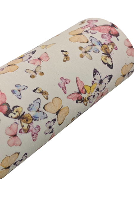 Colorful Butterflies Faux Leather Fabric Sheets