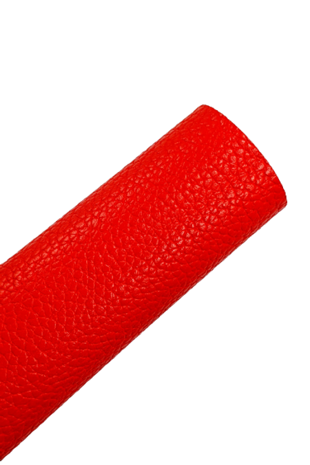 Bright Red Pebbled Faux Leather Sheets