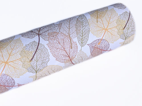 Leaf Print Faux Leather Sheets