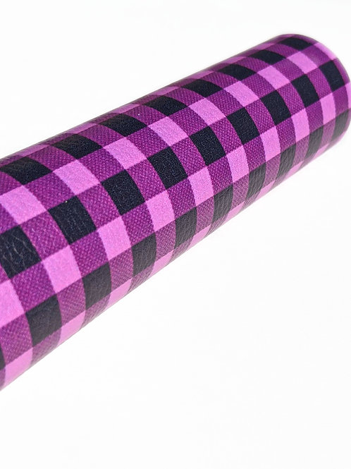 Light Purple and Black Plaid Faux Leather Sheets