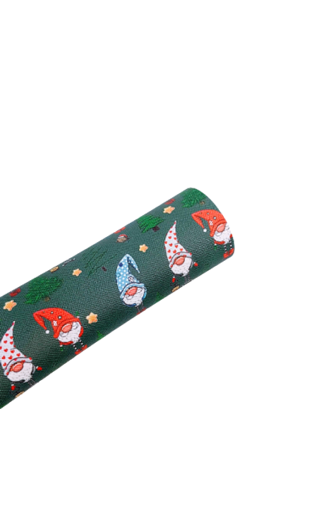 Holiday Gnomes Faux Leather Sheets