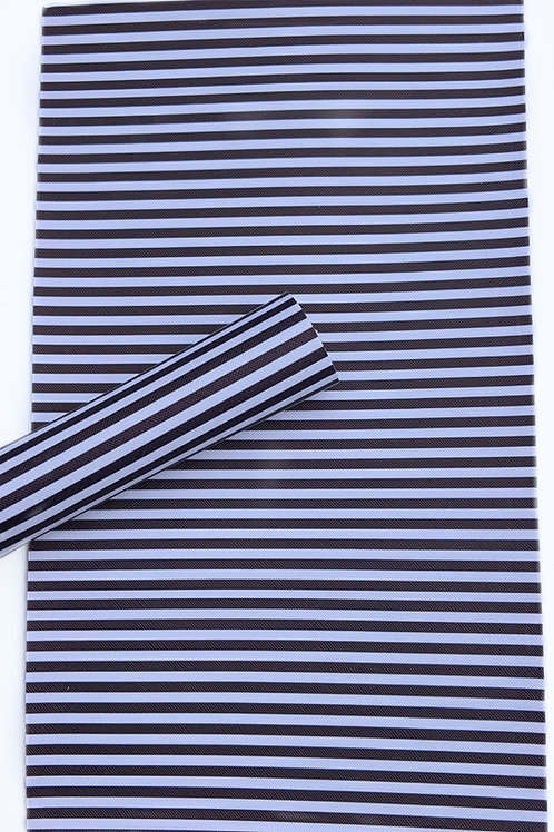 Black and White Stripes Faux Leather Sheets