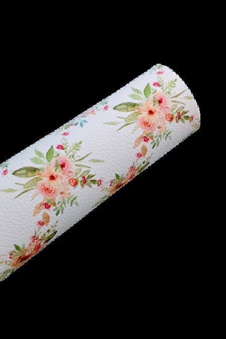 Floral Diamond Pattern Leather Fabric Sheet