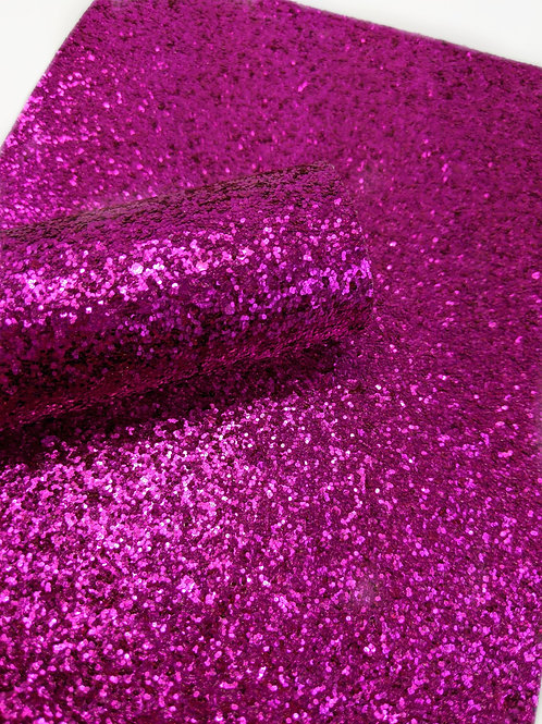 Magenta Chunky Glitter Faux Leather Sheets