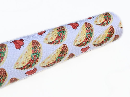 Tacos and Peppers Print Faux Leather Sheets