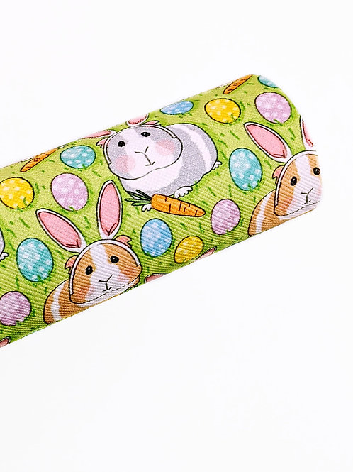 Guinea Pig Easter Bunny Faux Leather Sheets