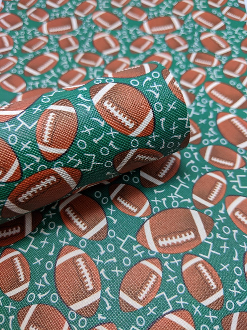 Football Print Faux Leather