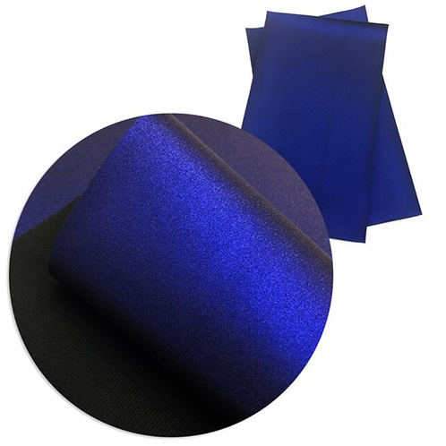 Metallic Blue Faux Leather Sheets