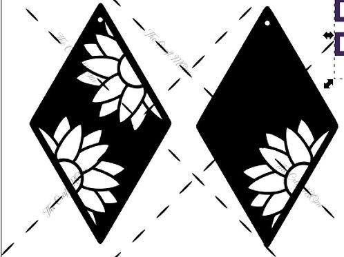 Diamond Sunflower Earring Template