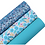 Blue and Purple Mixed Color Chunky Glitter Faux Leather Sheets