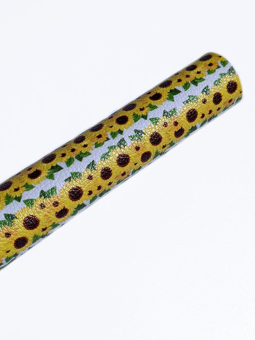 Sunflowers Faux Leather Sheet