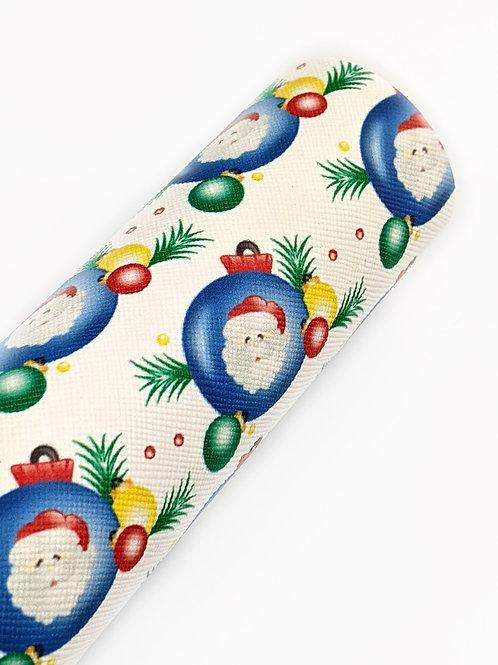 Santa Ornament Faux Leather Sheets