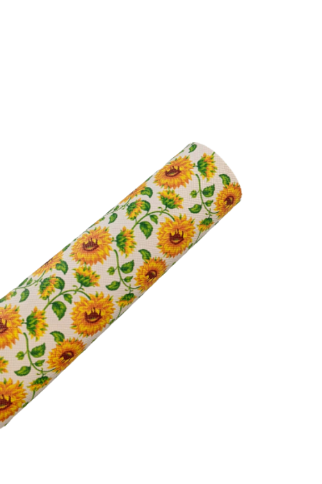 Sunflowers Faux Leather Sheets