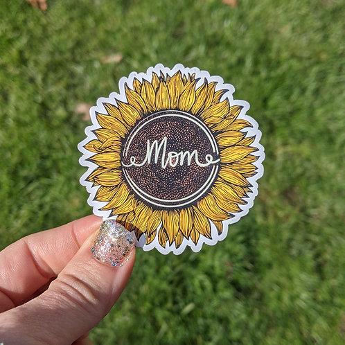 Mom Sunflower Magnet