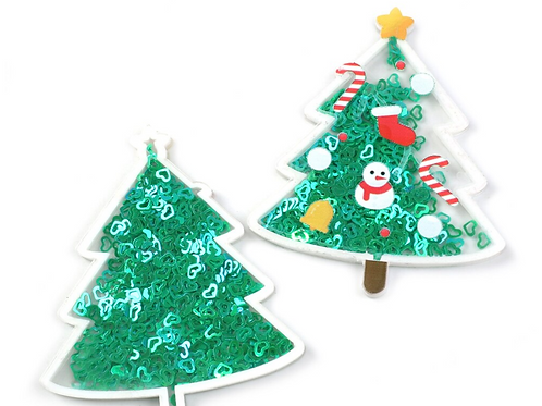 Christmas Tree Confetti Resin Shaker