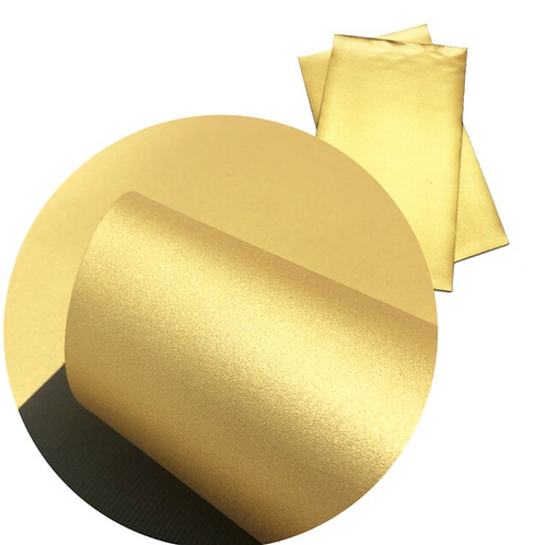 Metallic Gold Faux Leather Sheets
