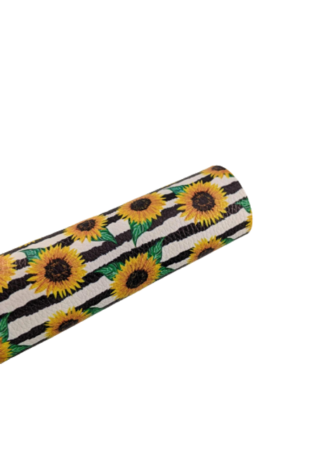 Sunflowers and Stripes Faux Leather Sheets