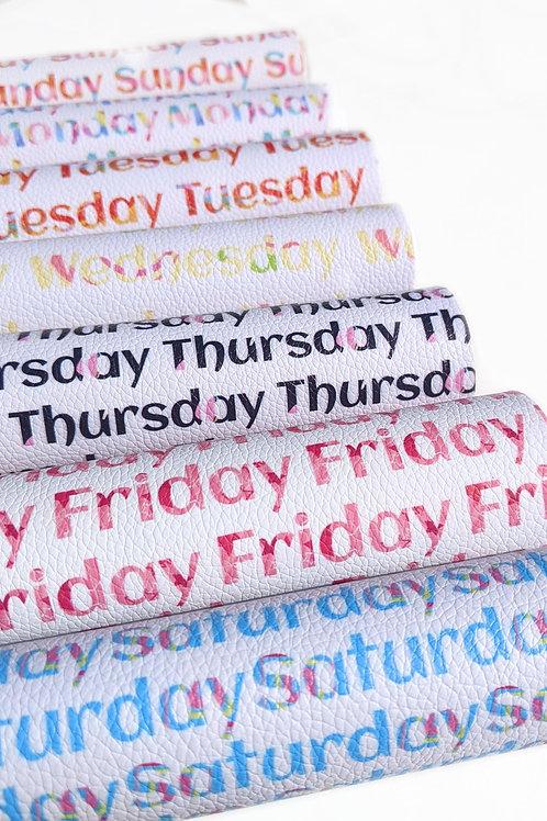 Days of the Week Fabric Sheet Set